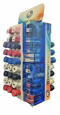 WirelessNeed Premium 82 Pc Cell Phone Accessories Counter Display 1amp Chargers