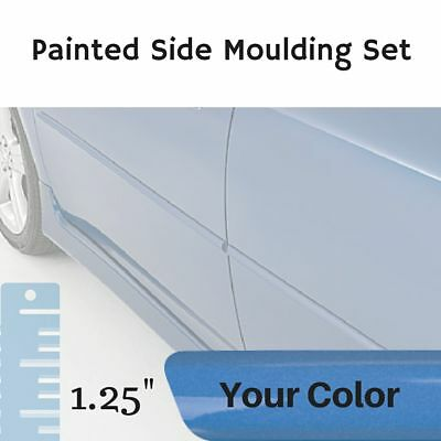 """Painted 1.25"""" Body Side Moulding Set for Fiat 124 Convertible (Factory Finish)"""