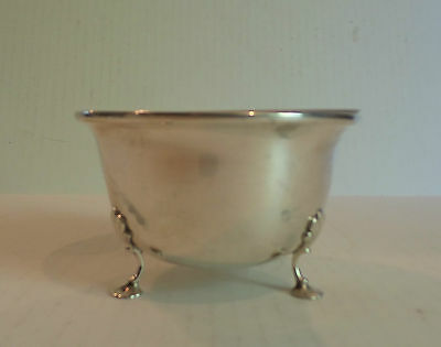 Lovely Georg Jensen Usa Sterling Silver Glass Lined Small Footed Bowl / Dish