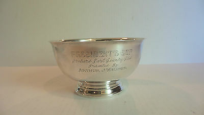 """Gorham Sterling Silver """"Revere Reproduction"""" 6.5"""" Mid-Century Trophy Bowl"""