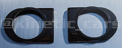 Corsa C Heater vent 52mm Gloss black gauge pod panel adapter.Twin pack