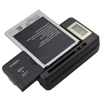 New Digital Lcd Universal Cell Phone Battery Charger Usb Port Note 1 2 3 Note 4