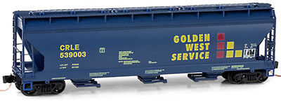 Micro-Trains MTL N-Scale 3-Bay ACF Covered Hopper Golden West/GWS #539003