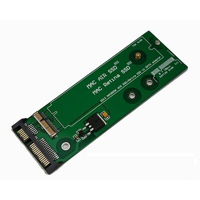 SSD to SATA adapter for 7+17 / 8+18 Pin 2012 MacBook Pro Retina and Air NEW