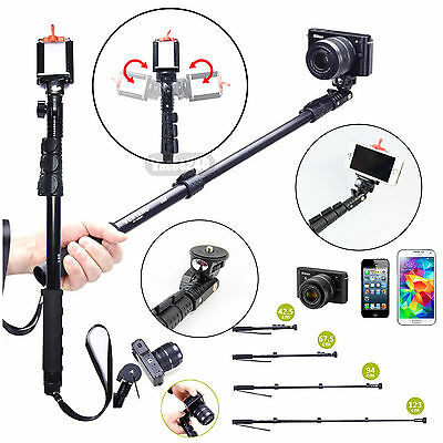 Extendable Telescopic Handheld Pole Arm Monopod Tripod for iPhone 6 5s 5 Gopro