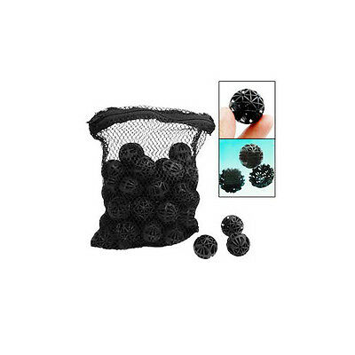50 Black Filter Bio-Balls Filtration For Aquarium Fish Tank New