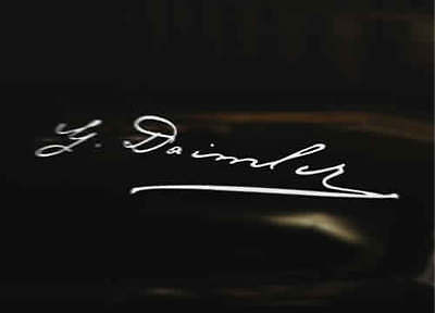 GOTTLIEB DAIMLER Signature Car Decal Sticker Mercedes Benz AMG SLK Class A B C E