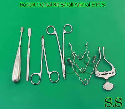 Rodent Dental Kit Small Animal Dentistry 8 PCS Rabbit Rodent Dental, RD-001