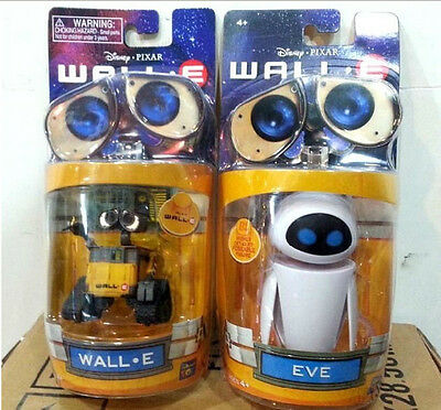 Disney Pixar Wall-E & Eee-Vah EVE Set of 2pcs Mini Action Figure Neu Spielzeug