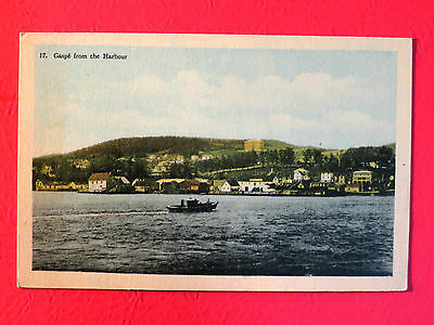 Quebec vintage postcard LN Gaspe PQ from the harbour