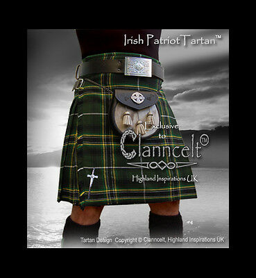 Kilt IRISH PATRIOT TARTAN© 16oz fabric -  Tribute to Ireland