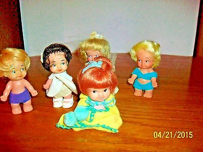 Vintage Lot of 5 1965 Uneeda Doll Company's Pee-Wees