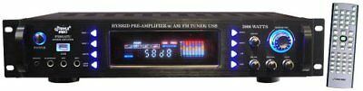 PYLE AUDIO PYLP3201ATUB 3000W Hybrid Home Stereo Receiver Amp W/ AM/FM Tuner