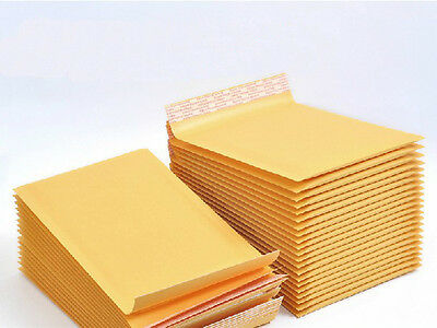 10 x Kraft Bubble Envelopes Padded Mailers Shipping Self-Seal Bags 110x178mm