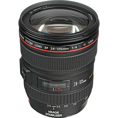 Canon EF 24-105mm f/4L IS USM Autofocus Lens (Frustration Free Packaging) NEW!!