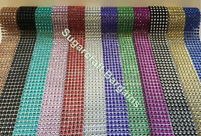 BLING RIBBON SPARKLY Sugarcraft Cake decorating Card craft mesh ribbons 6 row