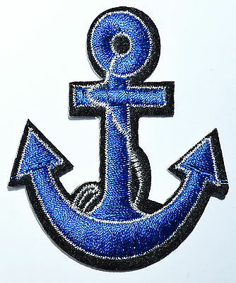 HOT SALE Anchor SEA Biker Hippie Iron On Patch Lovely Red Nautical