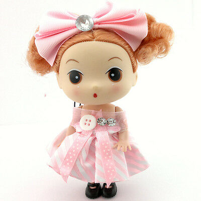Lovely Pink With Bow Ddung Doll Bag Cell Phone Keychain Strap Party Gift 12CM