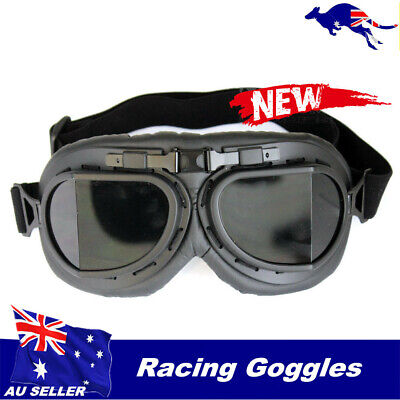 Motorcycle Vintage Style Glasses Goggles for Retro Harley Helmet Men Women Adult