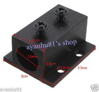 Black Aluminum Radiator Heatsink Heat Sink Holder Mount for 12mm laser modules