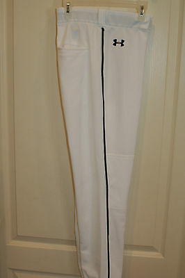 Youth XL Under Armour White Athletic Baseball Style Pants