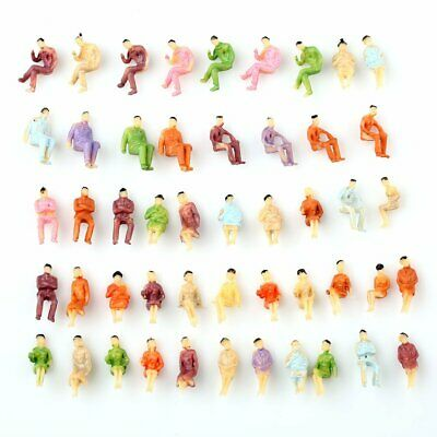 50pcs HO Scale 1:100 ALL Seated People Sitting Figures Passengers Well Painted
