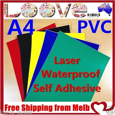 10X A4 Color PVC Glossy Waterproof Self Adhesive Sticker Label Laser Print Paper