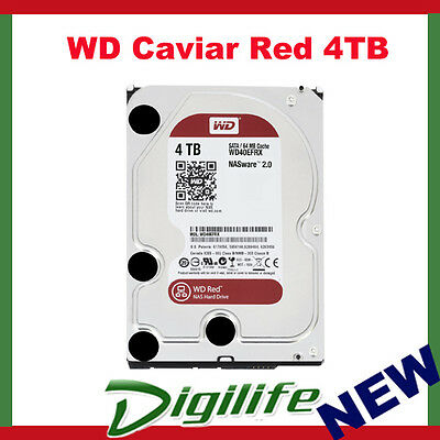 "Western Digital WD Red 3.5"" 4TB NAS Internal Hard Drive HDD SATA3 6GB/S WD40EFRX"