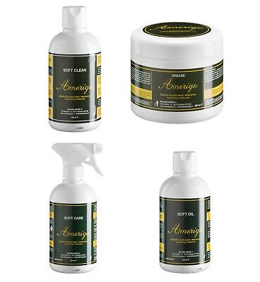 Amerigo SOFT CLEAN, GREASE, OIL Professional Leather Saddle Bridle Care Products