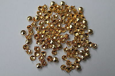50 x 5mm Diamond Cut Nail Head Studs in Silver Gold for Bag Shoes Leather Craft