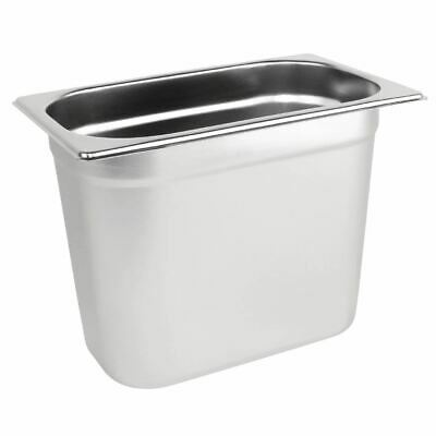 Vogue Stainless Steel 1/4 Gastronorm Pan 5.2Ltr/200mm Deep Food Container