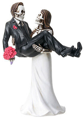 NEW! Day of the Dead Wedding Couple Bride Carrying Groom DOD Statue Figure 8066