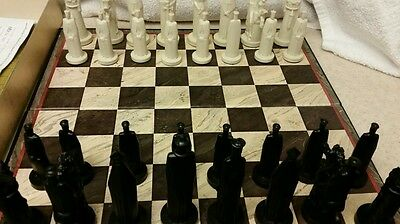 Vintage Conqueror Sculpted Chess Set by Ganine
