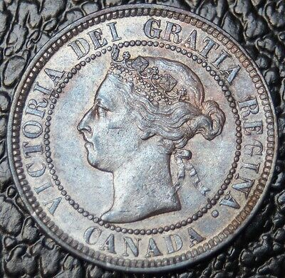 OLD CANADIAN COIN 1901 - ONE CENT - Victoria - Nice Lustre & Tone - NCC