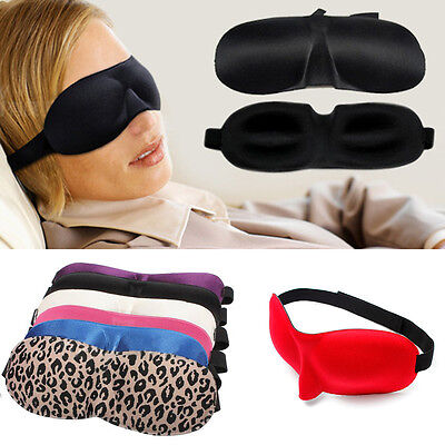 Travel Rest Shade Sleeping 3D Soft Padded Eye Sleep Mask Blinder Blindfold Soft