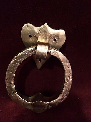 Antique  Brass Door Knocker with Heart