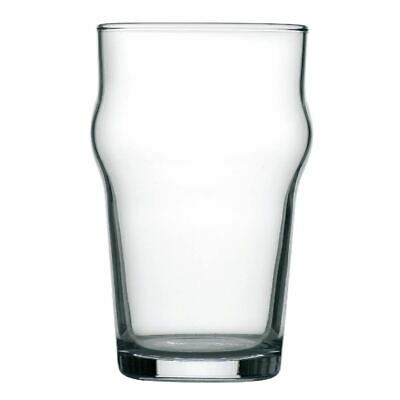 Arcoroc Nonic Beer Glasses 285ml for Pubs Bars & Clubs Stackable Pack of 48