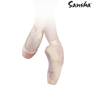 Sansha 202C Recital Canvas In White Only but with marks and blemishes Old Stock