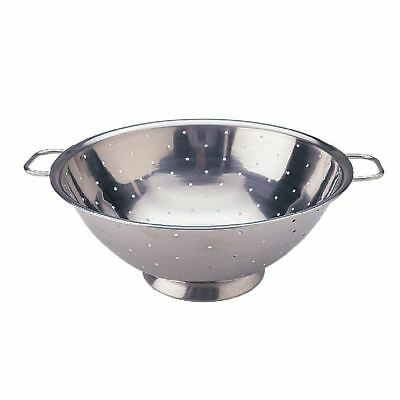Vogue Stainless Steel Colander 9in Silver Colour Stainless Steel