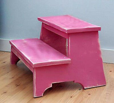 Vintage style simple Step-stool ~ build-it-yourself woodwork plan- Free Shipping