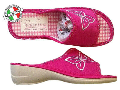 Ciabatte Donna Ragazza 36 37 38 39 40 41 Pantofole Antishock Made In Italy Fuxia