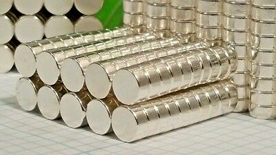 100 Neodymium N52 disk magnets. Super Strong Rare Earth Magnets pure silver (Ag)
