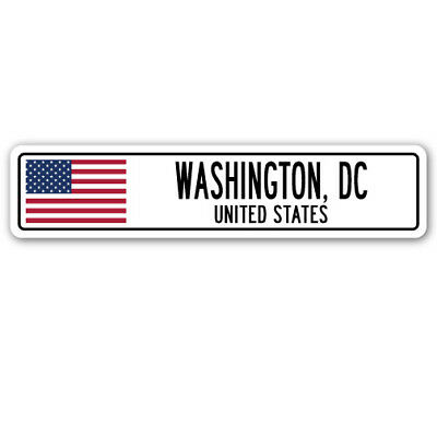 WASHINGTON, DC, UNITED STATES Street Sign American flag city country   gift