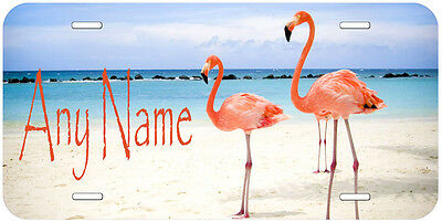 Flamingo Personalized Novelty Car License Plate A02