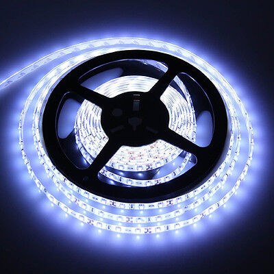 Newest 3528 5M 300 LED SMD Flexible Strip Light Non-Waterproof cool White DC 12V