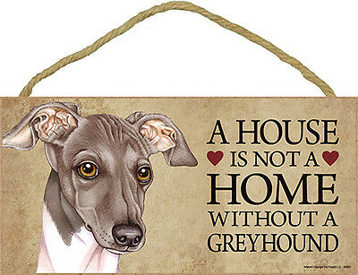 Italian Greyhound Indoor Dog Breed Sign Plaque - A House Is Not A Home + Bonu...