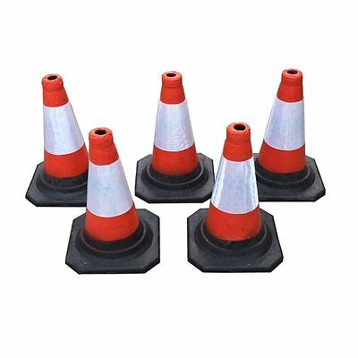 "(PACK OF 5) Road Traffic cones 18"" (450mm) Self weighted safety cone"
