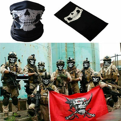 Face Mask Windproof Ski Skull Ghost Scarf Neck Warmer Theater Prop Thriller New