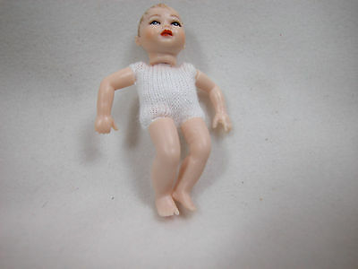 "Heidi Ott  Dollhouse miniature 1:12 Scale  2"" Nude Doll Body Baby # XKB01"
