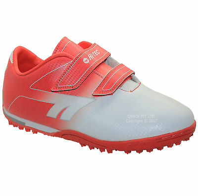 New Boys Astro Turf Trainers Kids Red Football Boots Shoes Sports Size Infant